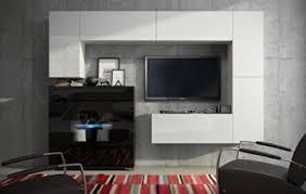 future 8 wohnwand anbauwand moderne wohnwand wandschrank matt weiß schwarz wohnzimmer möbel wohnzimmerschrank tv ständer led rgb beleuchtung front