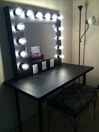 Desk Bohemian Makeup Vanity Designs With Accent Lights Portable