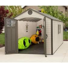 sheds 8x20 plastic storage shed w 2 windows 60120
