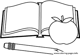Book Apple Pen Back To School Coloring Pages