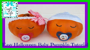 Halloween Faces For Pumpkins Painted by Craft Life Easy Halloween Baby Pumpkin Tutorial Youtube
