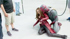 Vision Scarlet Witch Behind The Scenes