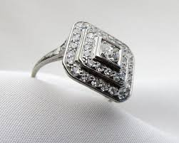 deco square rings 109 best ring reset images on rings jewelry and