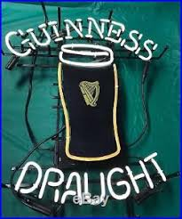 Vintage Guinness Draught Neon Beer Light Bar Miller Budweiser Sign