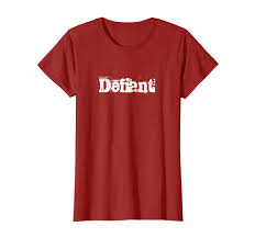 Amazon.com: Defiant Type Grunge Worn T-shirt: Clothing