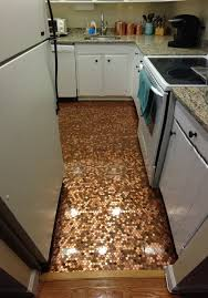 Poured Epoxy Flooring Kitchen by How To Install A Copper Penny Floor A Made In Usa Diy Project