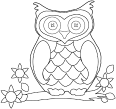Owl Coloring Book Pages Or Picturesque