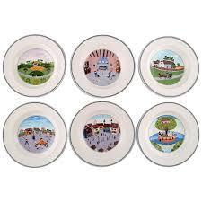 villeroy boch naif dinner service in porcelain set of 6