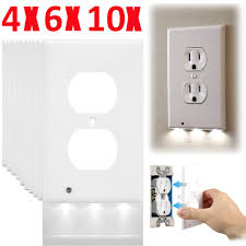 lot cover led light sensor light wall outlet