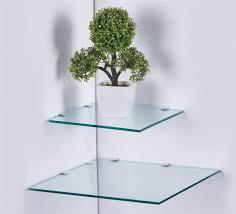 glas wandregal eckregal glasregal mit 6mm esg sicherheitsglas perfekt geeignet als badablage glasablage für badezimmer 25 x 25 cm satiniert