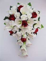 Real touch Wedding Bride Bouquet Calla Lily by eventsbyflowers