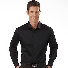 Corny White Guy Black Dress Shirt