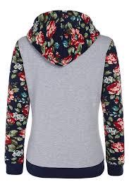 acevog women u0027s floral printed long sleeve hooded pullover hoodies