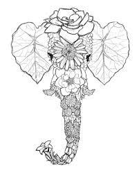 Free To Print Psychedelic Elephant Head Coloring Pages For Adult Download And