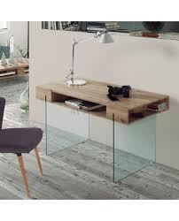 bureau verre trempé bureau design moderne chêne et verre bon rapport qualité prix