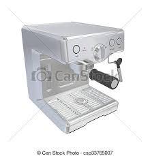 Stainless Steel Espresso Coffee Machine 3d Illustration