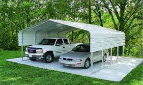 Metal Carports 2 Car Steel Carports And More Garages Double Wide