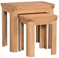 the one wate massiv eiche natur nest of tables satztisch set