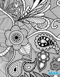 Flowers Paisley Design Worksheet Color Online Print
