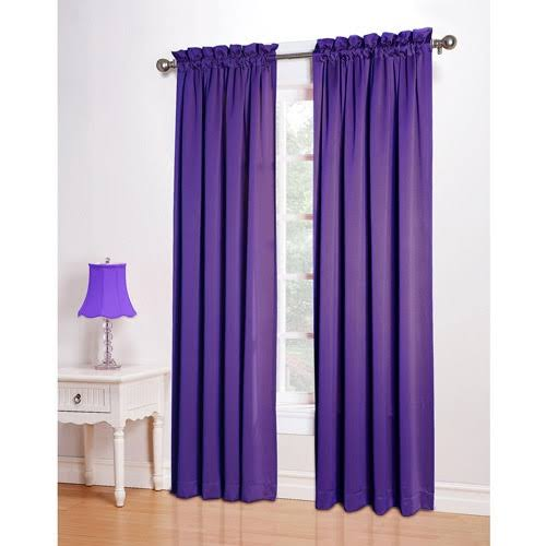 Sun Zero Kylee Room Darkening Window Curtain Panel, Purple
