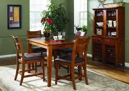 Urban Craftsmen Square Dining Table W 4 Side Chairs Buffet Hutch Klaussner