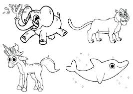 Free Printable Wild Animal Coloring Pages Farm Animals Baby Zoo G Online