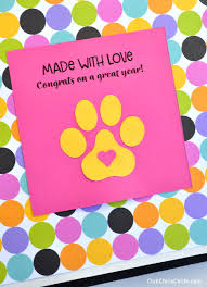 Made With Love Paw Print Cheer Scrapbook Design