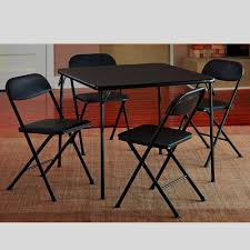 Amazon.com: Black Metal Folding Table Set Small Portable ... Steel Ding Room Chairs Kallekoponnet Modern Narrow Table Set Cute With Photo Of 36 Round Natural Laminate With Xbase And 4 Ladder Back Metal Black Vinyl Seat 2 Ding Tables 8 Chairs In Metal Black Retro Design Square Walnut Grid Barstools Amazoncom Shing Wood Laneberg Svenbertil Brown Lucano Marble Leather Mesmerizing Iron Legs Reclaimed Base 5 Piece Kitchen Tag Archived Of Polyurethane Likable Pcs Table