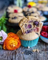 gesunde beeren muffins vegan ohne weissen zucker