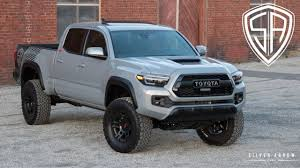 2018 Toyota Tacoma TRD Custom Lifted In Cement Grey | Silver Arrow ... Used Lifted 2017 Toyota Tacoma Trd 4x4 Truck For Sale 36966 Tacoma Lift Google Search Pinterest Pin By Mr Mogul On Trucks Marketing Media Why Buy A Muller Clinton Nj Single Cab Images Pinteres Pro Debuts At 2016 Chicago Auto Show Live Photos Tundra Stealth Xl Edition Rocky Ridge Toyota Ta 44 For Of 2018 Custom In Cement Grey Consider The Utility Package A Solid Work