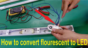 how to convert fluorescent light fitting t8 or t12 for led