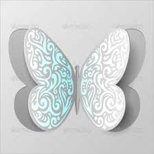 Abstract Paper Butterfly Cutout Printable 4