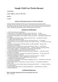 Child Worker Cover Letter Sample For
