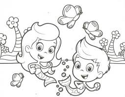 Free Bubble Guppies Molly And Gil Coloring Page To Print