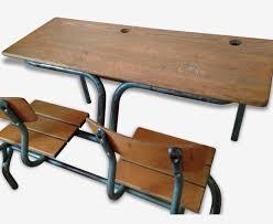 bureau ecolier en bois bureau pupitre écolier vintage métal bois couleur