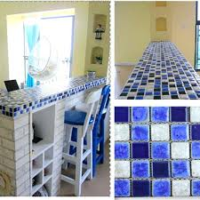 ceramic mosaic floor tile blue and white porcelain tile mosaic