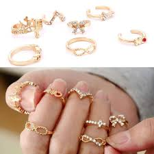 Rhinestone Bathroom Accessories Sets by Amazon Com Fashion Personality 7pcs Gold Rhinestone Bowknot Cross