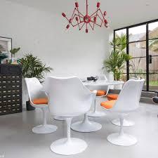 tisch 120 cm rund schwarz weiß für wohnzimmer bar küche restaurant tulip