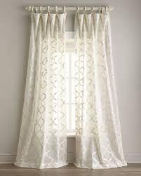 Geometric Pattern Sheer Curtains by Living Room Contemporary Geometric Sheer Curtain In Off White