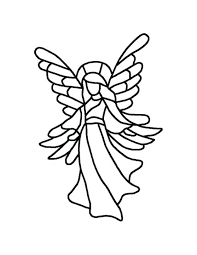 Stained Glass Angel Patterns Pattern Christmas Tree Template Decoration