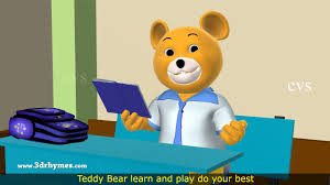 Teddy Bear Song 3D Animation Nursery Rhyme For Children