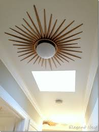 maybe in our hallway starburst flush mount diy version