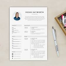 Professional 2 Pages Resume Template Free Cover Letter