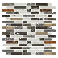 vail shimmer stria with glass mosaic tile 12 x 12 in