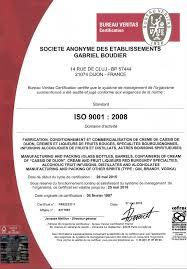 bureau veritas fr certification of quality gabriel boudier since 1874