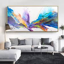 abstrakte kunst heidelbeere burst aquarell blau leinwand malerei wand kunst drucke für wohnzimmer abstrakte wolken kunstdrucke poster