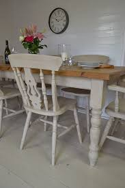 Shabby Chic Dining Room Chair Cushions by This Large Farmhouse Dining Set Has A Substantial Table Which Can