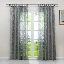 1 st gardine ausbrenner ranken muster wohnzimmer vorhang