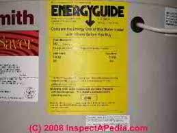 Energy Guide Sticker For A Water Heater C Daniel Friedman