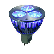 12v 3w blue led mr16 wide spot light bulb led1612v3w blue ws by aql